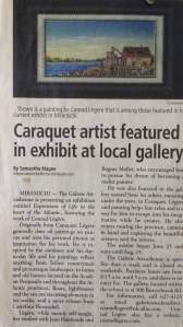Caraquet artist featured in exhibit at local gallery