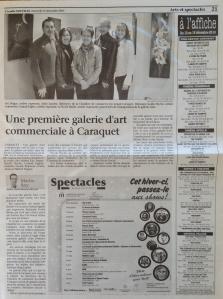 Une première galerie d'art commerciale à Caraquet