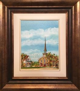 Paysage au clocher - Conrad Légère